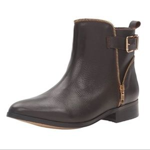 Eric Michale Paris ankle boots bootie Brown 10